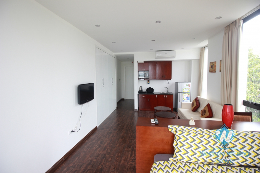 Nice, full serviced studio for rent with lake view in Tay Ho, Hanoi