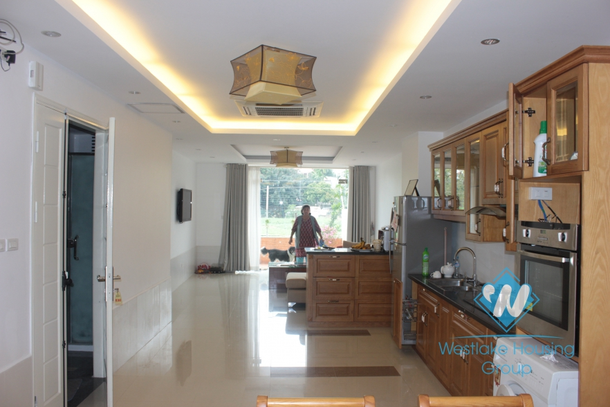 Beautiful apartment with nice garden for rent in Xuan Dieu Street, Tay Ho, Ha Noi