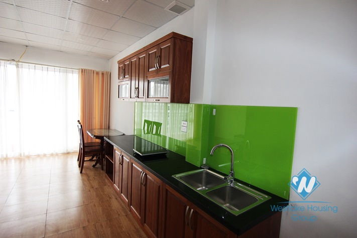 Nice apartment with one bedroom and two bathrooms for rent in Au Co, Tay Ho, Ha Noi