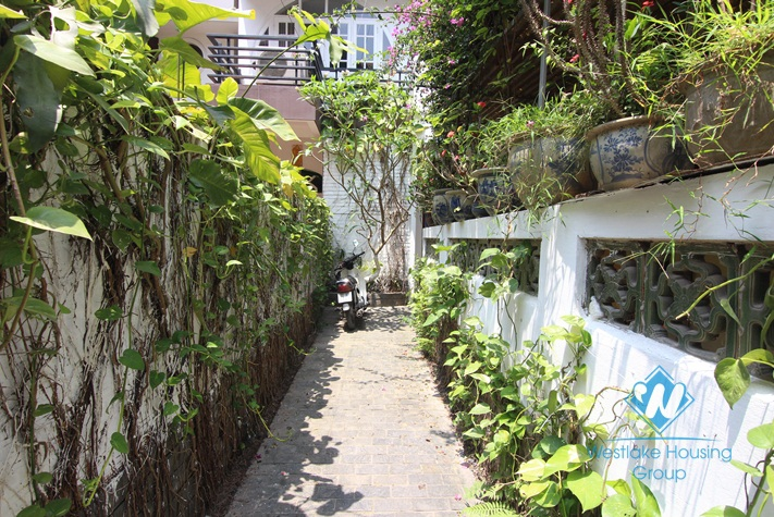 Lovely house for rent with back yard in Tay Ho, Hanoi