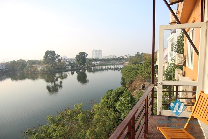 Newly renovated apartment with lake view balcony in Yen Phu, Tay Ho