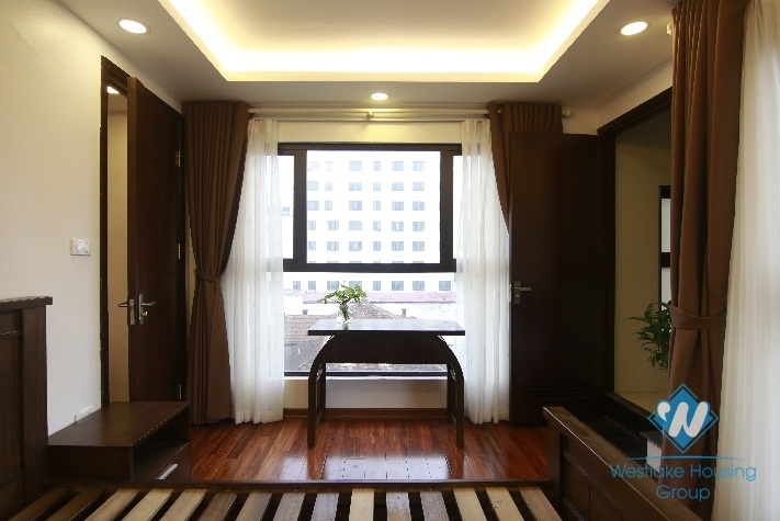 Two bedrooms apartment with 110sqm for rent in Hoan Kiem, Hanoi.