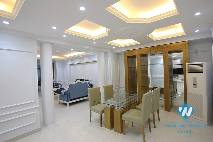 Brand new serviced apartment for lease in Thuy Khue, high floor