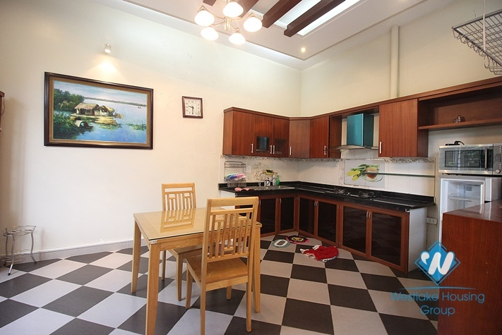 Two storey house with court yard for rent in Tay Ho, Hanoi