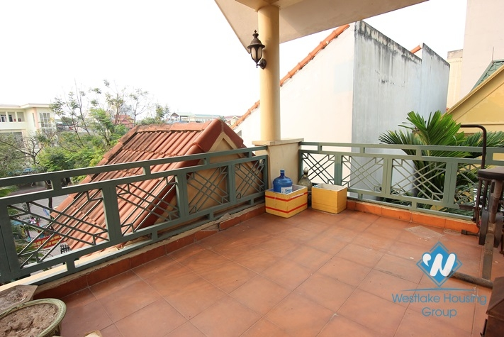 Lovely house with nice balconies for rent in Tay Ho, Hanoi