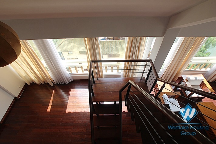 Duplex apartment with lake view for lease in Tay Ho, Ha Noi