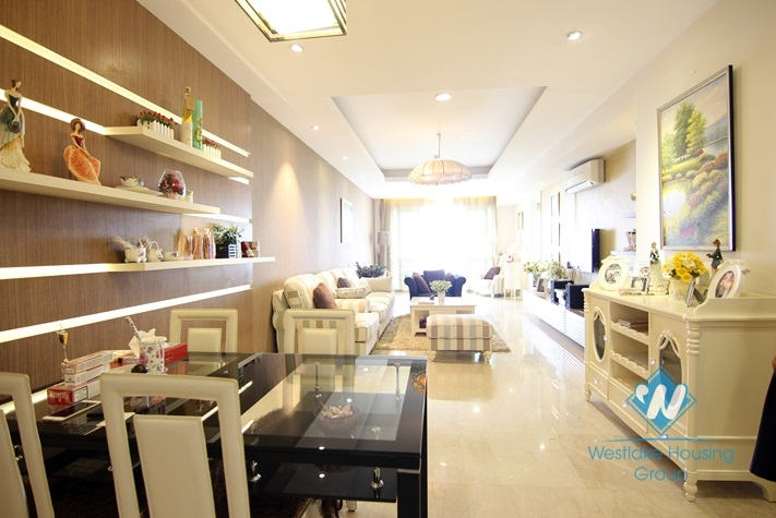 Beautifully renovated 2 bedrooms apartment for rent in Ciputra, Tay Ho, Hanoi
