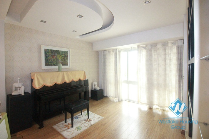 Spacious apartment for rent in P Tower, Ciputra, Hanoi