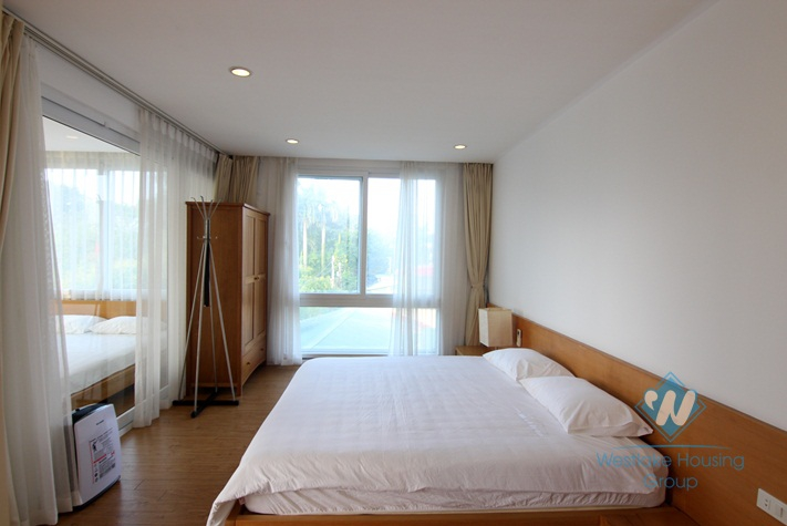 Lake view apartment for rent in Dang Thai Mai, Tay Ho, Ha Noi