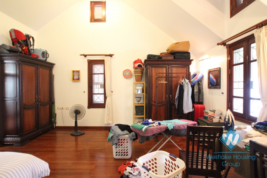 Charming and quiet house for rent in westlake area, Ha Noi.
