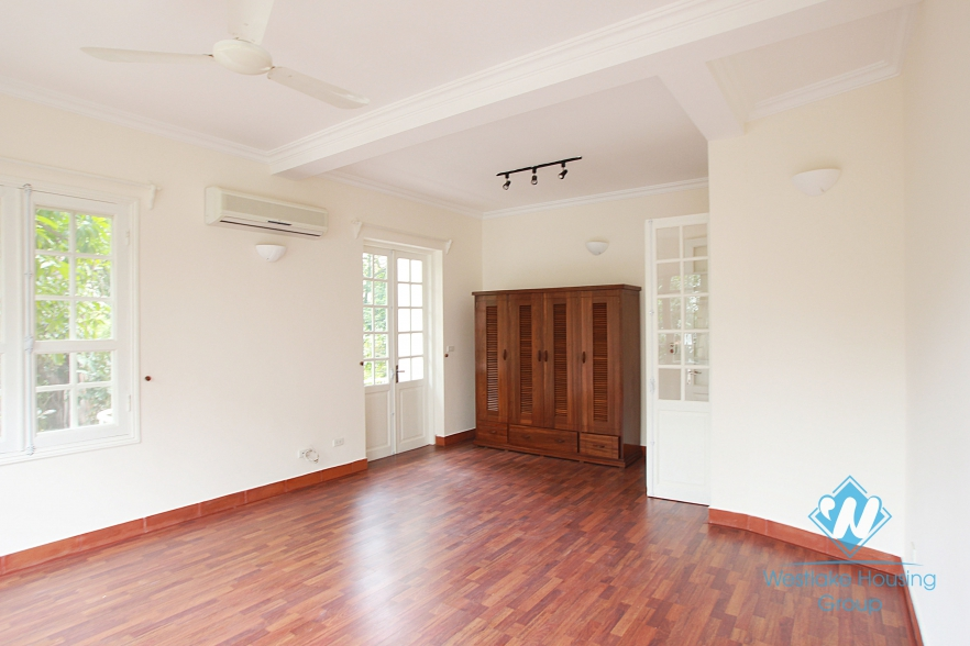 Beautiful house with large garden for rent in To Ngoc Van, Tay Ho - Unfurnished