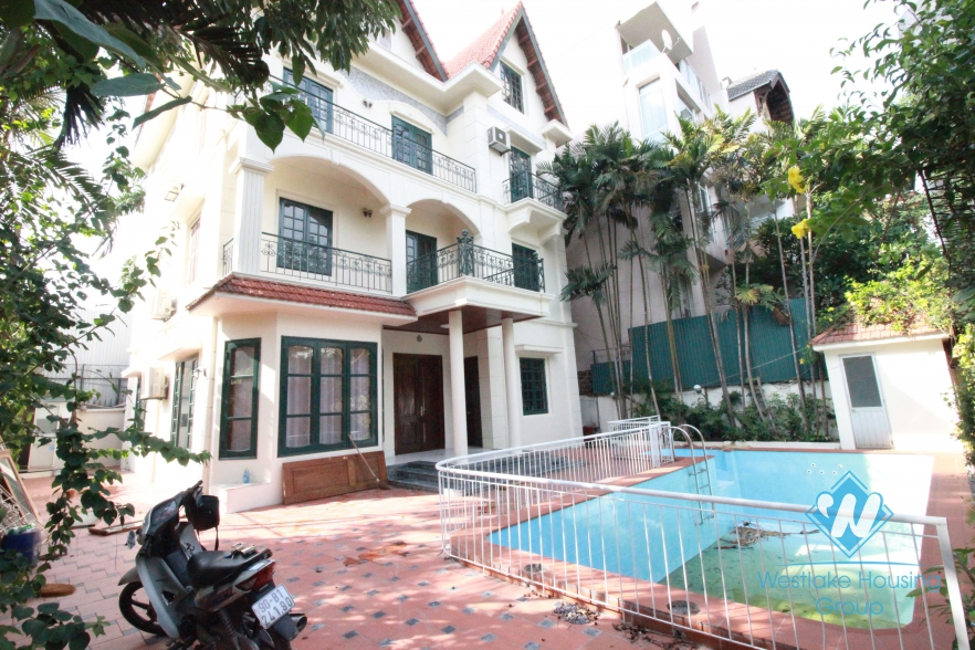 Big House with swimming pool for rent in Tay Ho area.