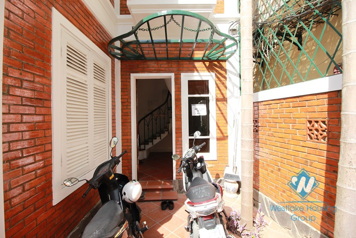 Well design house for rent in Tay Ho Street, Tay Ho, Hanoi.