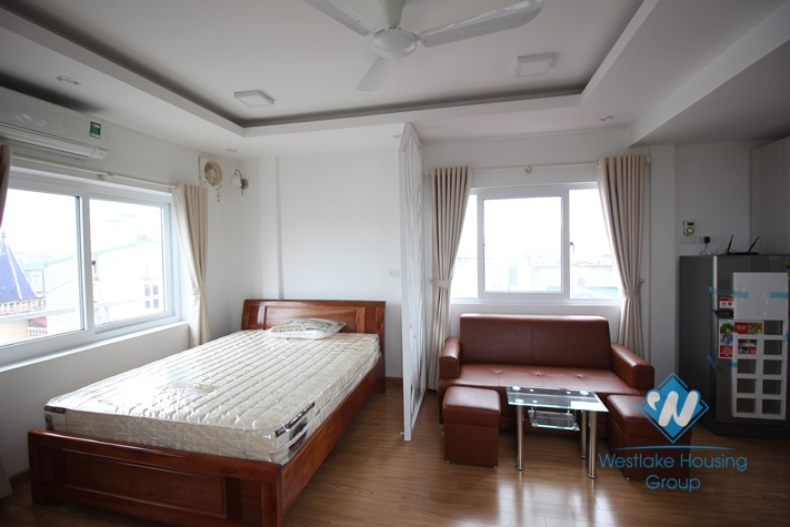 Open and airy studio apartment with stunning view for rent in Tay Ho