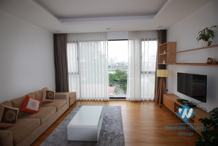 Furnished, stunning new apartment for rent on Pham Huy Thong, Ngoc Khanh, Ba Dinh, Hanoi