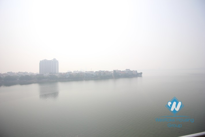 Amazing lake view for two bedrooms apartment for rent in Tay Ho, Hanoi