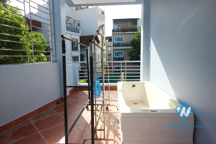 Five bedrooms house for rent in Tay Ho district, Hanoi.