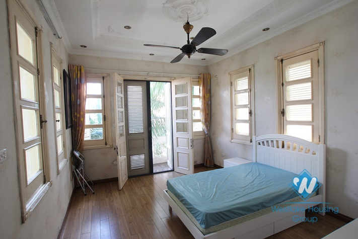 Beautiful house with big garden and swimming pool for lease in An Duong Vuong St, Tay Ho District, Ha Noi
