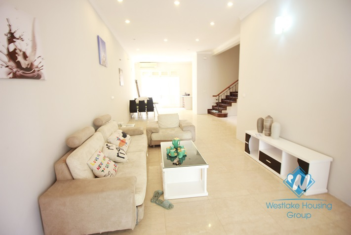 Beautiful house for rent with garden around in Ciputra, Tay Ho, Ha Noi