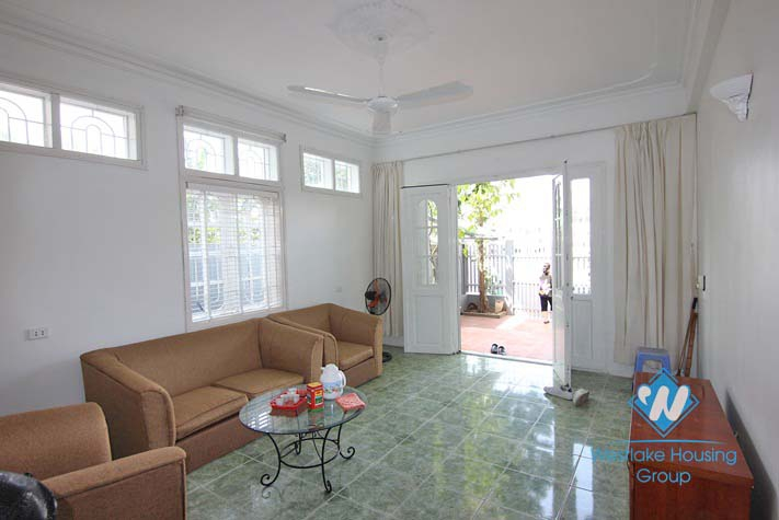 Newly renovated house beside the lake for rent in Westlake, Tay Ho area, Hanoi