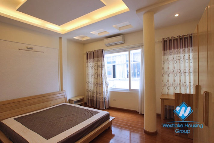 Apartment with lake view for rent in Tran Vu st, Ba Dinh district