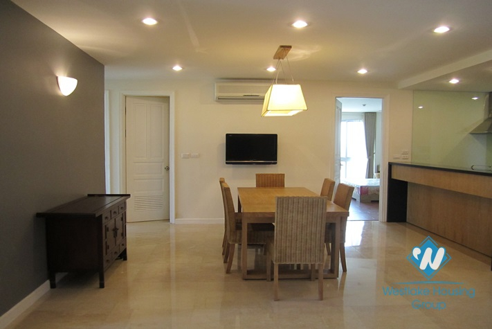 Nice modern apartment for lease in Ciputra, Tay Ho, Hanoi, fully furnished.