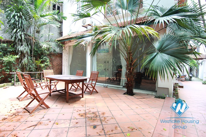 Garden house with extreme space and light for rent in Tay Ho, Ha Noi.