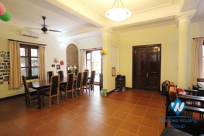 Charming house with nice design and big yard for rent in To Ngoc Van, Tay Ho, Ha Noi