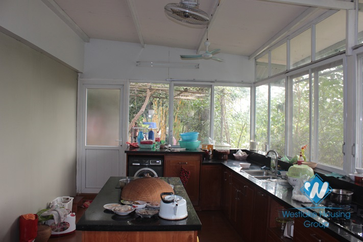House with large garden for lease in An Duong street, Tay Ho, Hanoi