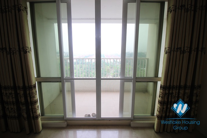 Modern apartment with outdoor balcony for rent in P tower, Ciputra, Tay Ho
