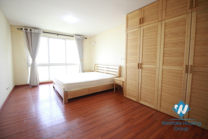 Nice and big size apartment for rent in P Tower Ciputra, Tay Ho area