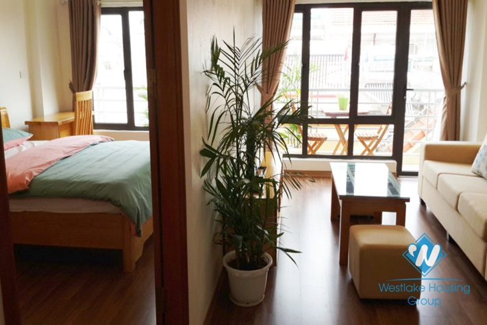 Separate 01 bedroom apartment for rent in Hoang Quoc Viet St, Cau Giay District, Hanoi.
