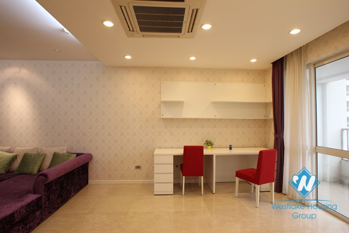 Apartment with nice and modern interior features for rent in Ciputra, Hanoi