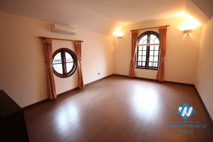Charming house located in a quiet area with swimming pool and 5 bedrooms for rent in Westlake Tay Ho, Hanoi, Vietnam