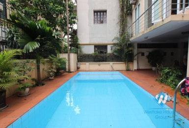 Large house with outside swimming pool for rent in Westlake area, Tay Ho district, Hanoi- unfurnished.