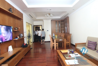 Apartment with wooden furniture for lease in Royal City, Thanh Xuan district, Hanoi