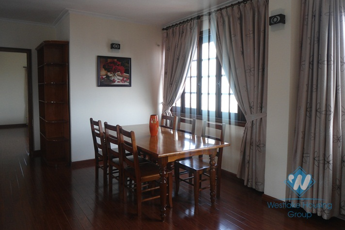 Apartment with large living room for rent in Hoan Kiem district, Hanoi