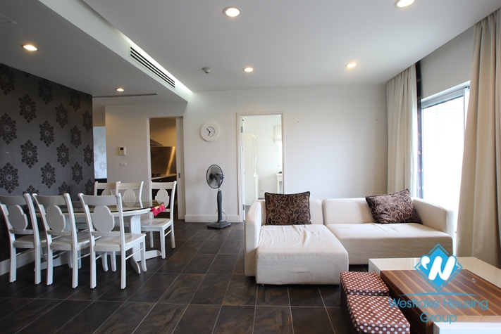 Apartment with simple furniture available for rent in Golden Westlake, Tay Ho, Hanoi.