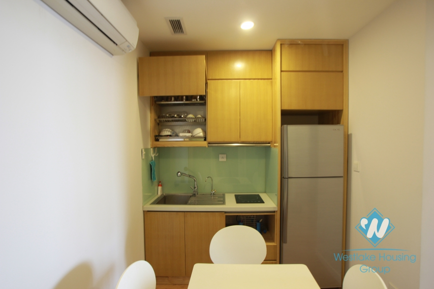 Nice apartment with large balcony and lake view for rent in Xuan Dieu Street, Tay Ho, Ha Noi