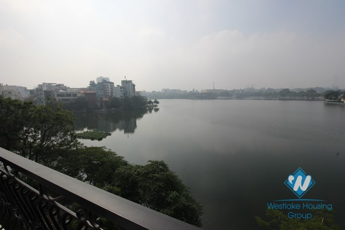 Gorgeous 2 bedrooms apartment with amazing lake view for rent in Truc Bach, Ba Dinh, Hanoi