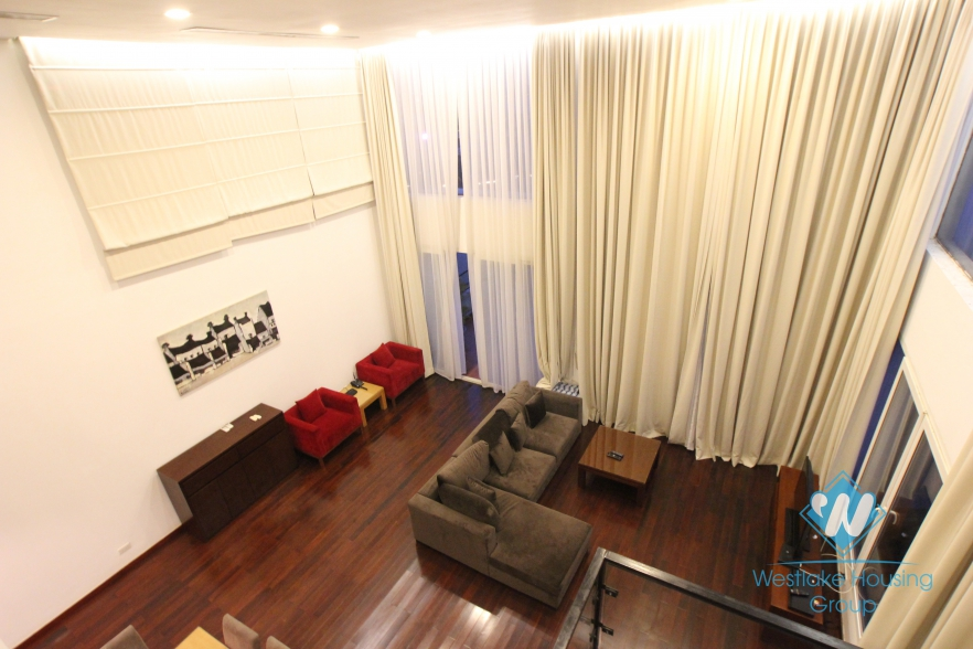 Fabulous lake view duplex apartment for rent in West lake area, Tay Ho, Hanoi, Vietnam