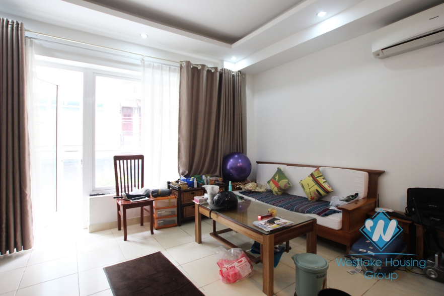 Apartment with separate one bedroom for rent in Truc bach area.
