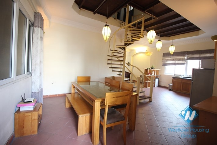 Cozy penthouse for rent in Truc Bach