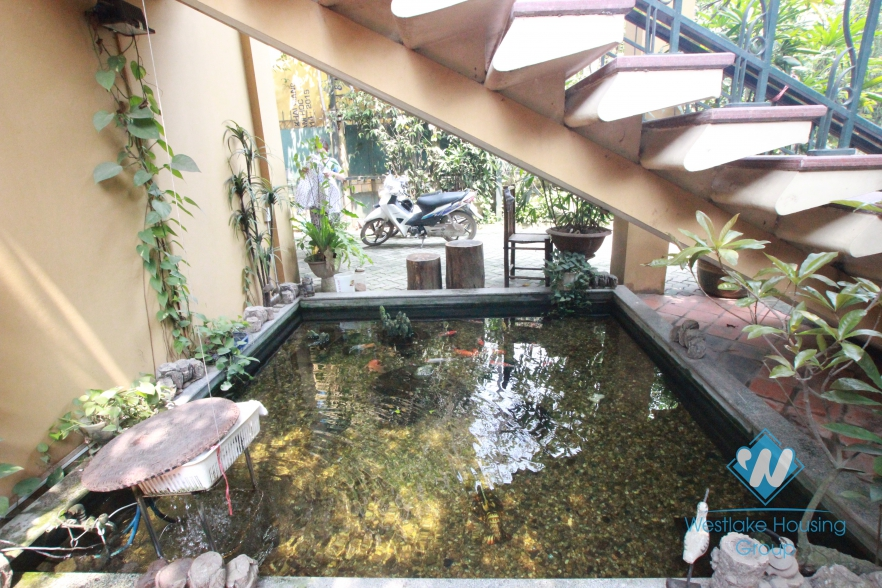 Beautiful house with big garden and lake view for lease in  Tay Ho District