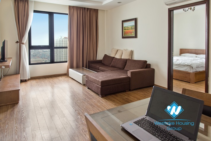 Furnished high floor Timescity apartment for rent in hai Ba Trung, Hanoi