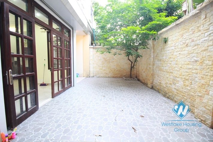 Charming house with small yard for rent in Ciputra, Block D, Tay Ho, Ha Noi