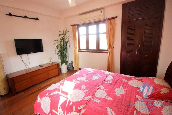Bright apartment for rent in Truc Bach area, Ba Dinh, Hanoi.