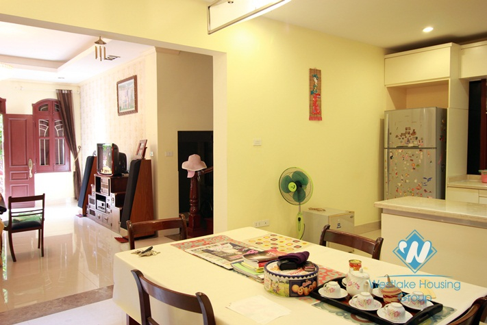 A charming house with large courtyard around for rent in Tay Ho area, Hanoi.