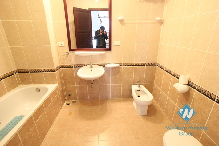 High quality house for rent with garden around in Ciputra area, Tay Ho District, Ha Noi