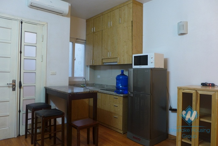 Nice serviced apartment with 01 bedroom for rent in Au Co St, Tay Ho, Ha Noi